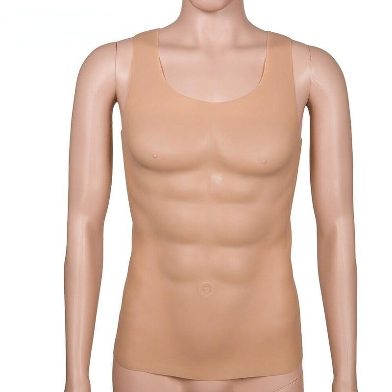 1720g Silicone Realistic Men's Tops Fake Breast Muscle Tank Tops Bodysuits Women Dress Up Men's Crossdressers