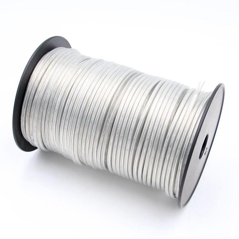 2 núcleos 3 centro transparente PVC aislante Cable Eléctrico 250V PVC transparente cables de alimentación cable redondo Flexible