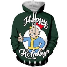Liumaohua  Newest Happy Holiday Hoodies Merry Christmas Game Fallout T Shirt/Sweatshirt/Hoodie 3D Print Men Women Casual Tops