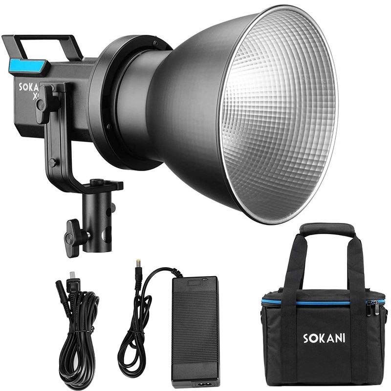 [해외] 응용 프로그램 제어와 Sokani X60 80W RGB LED 비디오 라이트 바이 컬러 2800k-10000K CRI96 + TLCI 95 + Bowens 마운트 조명 사진