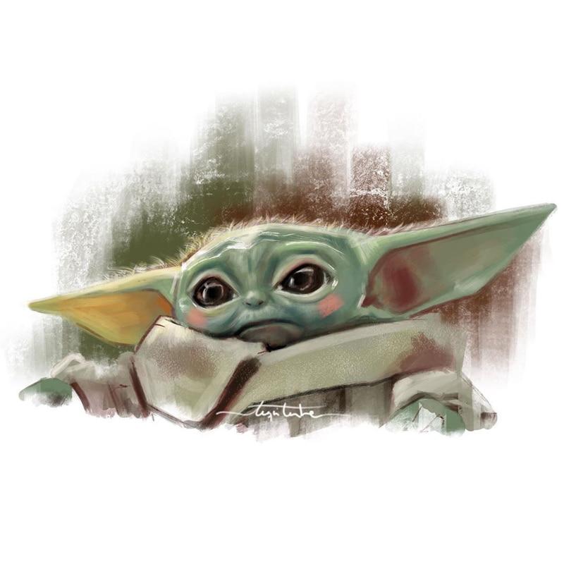 1 Uds hot Baby Yoda pegatinas para Laptop gorro para moto mochila impermeable vinilo calcomanías adhesivos para juguetes de niño pegatinas