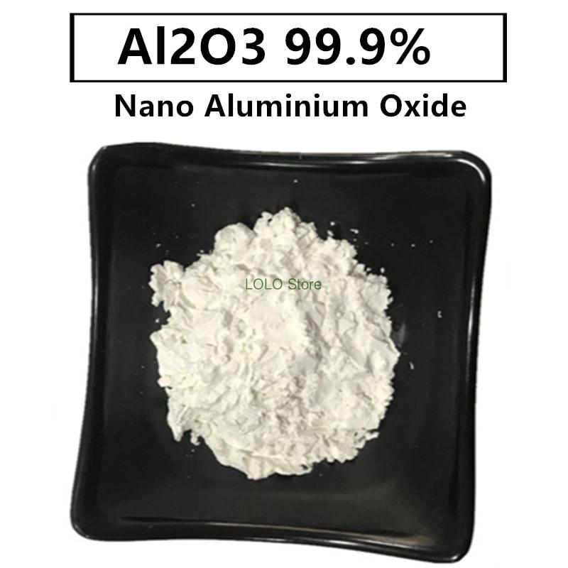 نانو Al2O3 99.9% أكسيد الألومنيوم مقاومة درجات الحرارة العالية التشحيم 1 مايكرو متر بودرة تلميع السيراميك