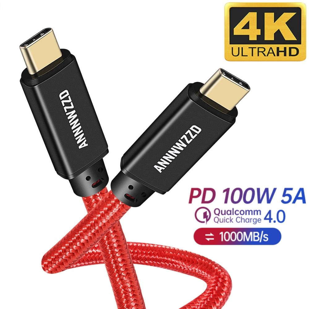 Usb 3.1 tipo c para usb cabo c para macbook pro 5a pd 100w usb 3.1 gen 2 4k @ 60hz cabo c para samsung s10 note20 qc 4.0 cabo
