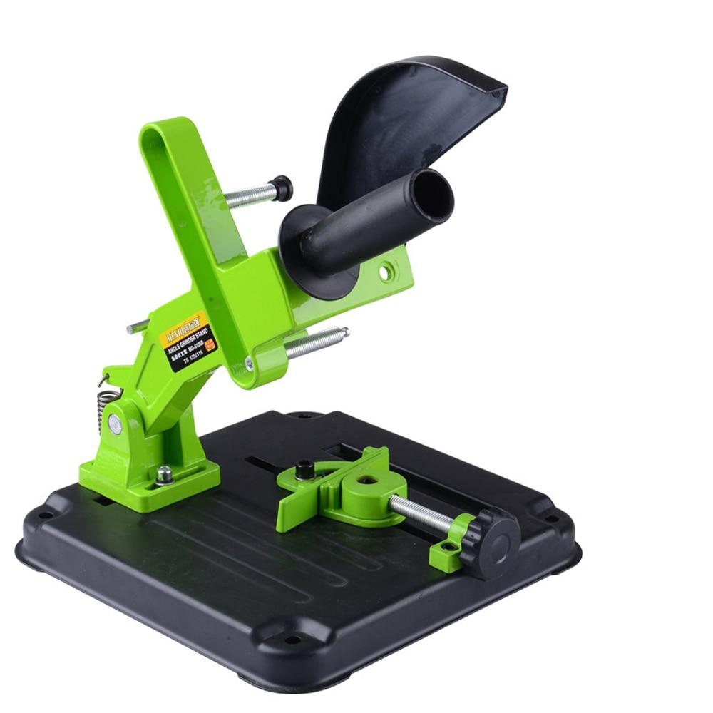 Multifuncional e DIY soporte de aluminio Base de hierro amoladora de ángulo soporte para máquina de corte de soporte para lijadora en ángulo