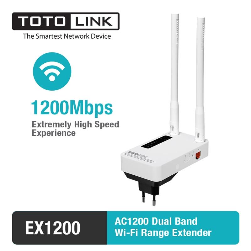 TOTOLINK-مضخم إشارة WiFi ، معزز إشارة مع هوائيات خارجية 2 × 5 ديسيبل ، موسع نطاق Ap 11AC 1200Mbps EX1200/EX1200M