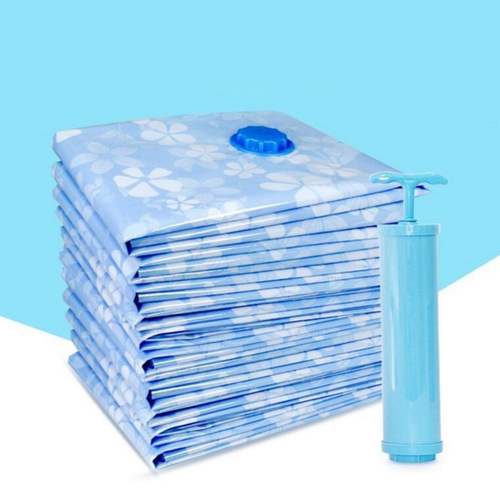 7- 11 قطعة سميكة حقيبة فارغة مع مضخة هواء يدوية قابلة لإعادة الاستخدام بطانية الملابس تخزين اللحاف مقسم حقيبة طوي أكياس مضغوطة