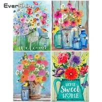 EverShine     peinture de diamant a mosaique de fleurs et strass  broderie complete en point de croix  image de maison  cadeau de loisir creatif