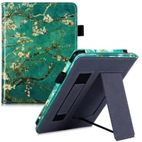 BOZHUORUI Stand Case for Tolino Page 2 e-Reader - PU Leather Protective Cover with Hand Strap Magnetic Closure Auto Sleep Wake
