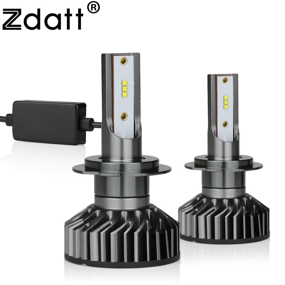 Zdatt H7, luces LED Canbus H4, lámpara de iluminación 12V H11 LED H1 9005 9006, luces antiniebla con Turbo 12000LM 100W 6000K 12V, automóviles