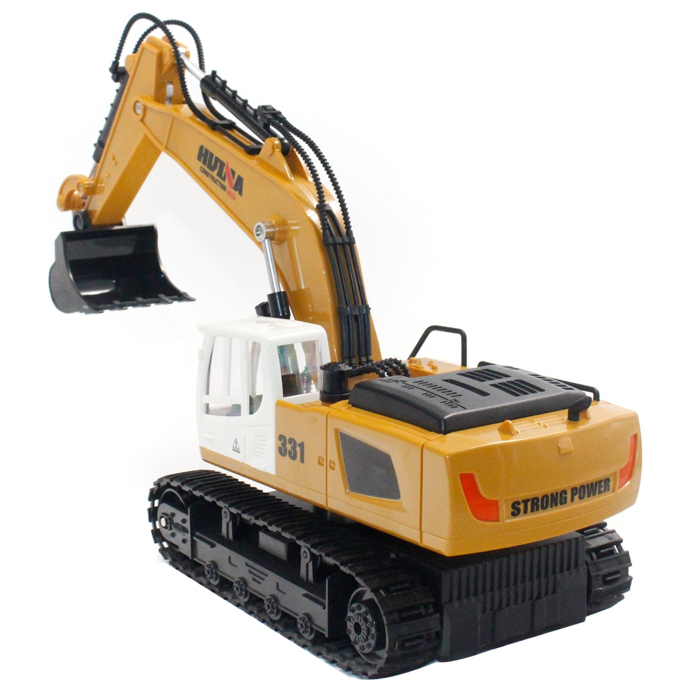 1:16 HUINA 1331 Easy Operate Music RC Truck Engineering Vehicles 9 Channel Toys Sound Electronic Kids Drive Simulation Rotation enlarge