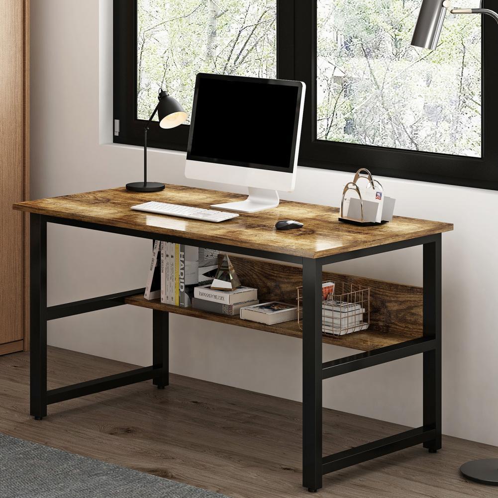 سطح أملس الخشب طاولة كتابة الدراسة سميكة مع الرف للنوم