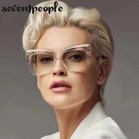 big frame cat eye sunglasses women 2021 fashion oversized square sun glasses for female vintage cateye shades eyewear uv400