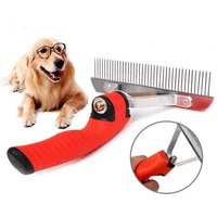 new style pet dog cleaning and grooming non slip nail removal comb