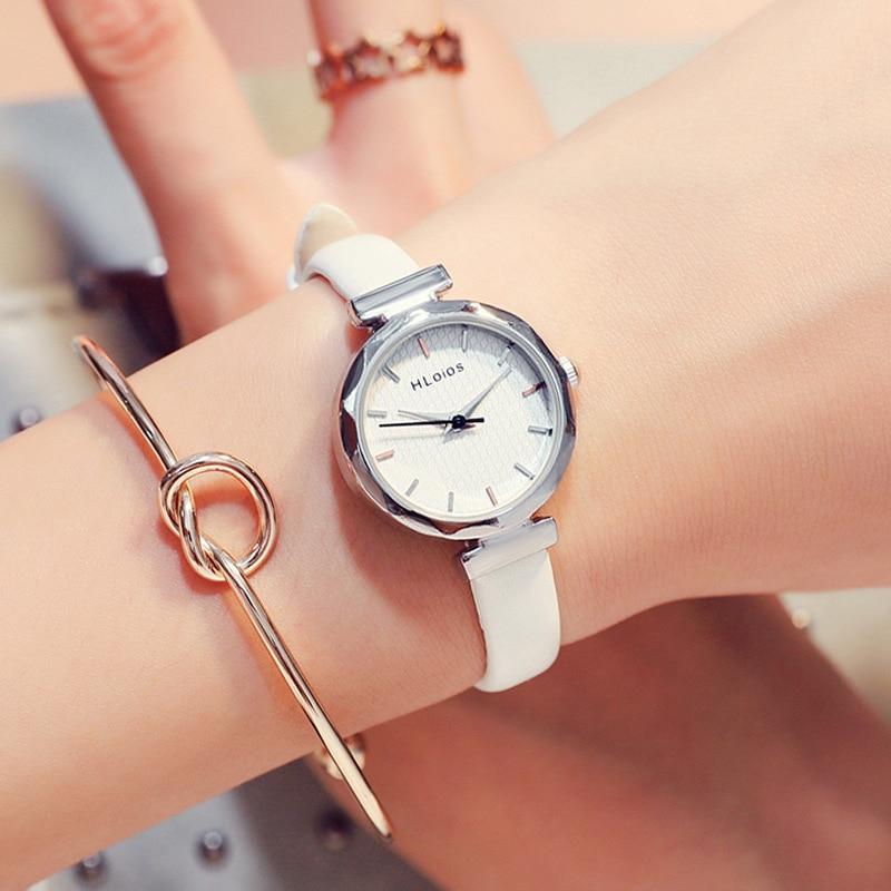 Feminino à Prova Relógio de Pulso Recém Chegados Hloios Socialite Estilo Pequeno Dial Relógio Feminino Estudante Coreano Moda Simples Dwristver Água Quartzo