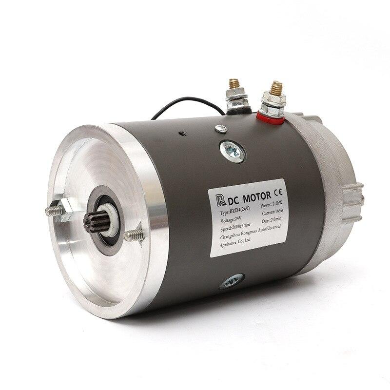 12V 1.6kw 24V 2.5kw DC Motor Power Unit Motor Copper Wire Movement The Brush DC Motor Electrical 12v, 24v and 48v Micro-motor enlarge