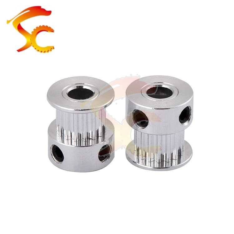 1PCS/LOT GT2 16 teeth fit for belt width 6mm bore 4mm 5mm 6mm 2GT 16teeth timing pulley for 3D printer pulley
