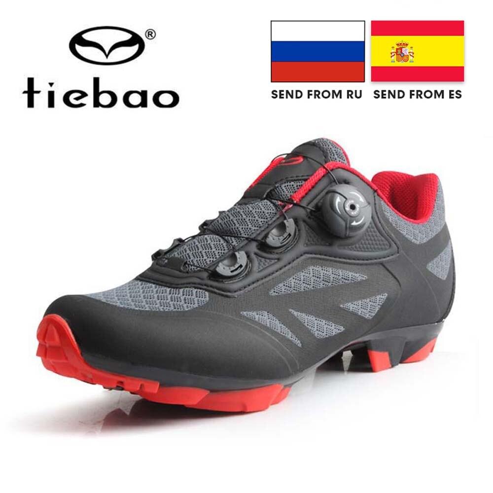 NewTIEBAO-أحذية ركوب الدراجات للرجال قابلة للتنفس, أحذية رجالية لركوب الدراجات الهوائية Mtb ذاتية القفل
