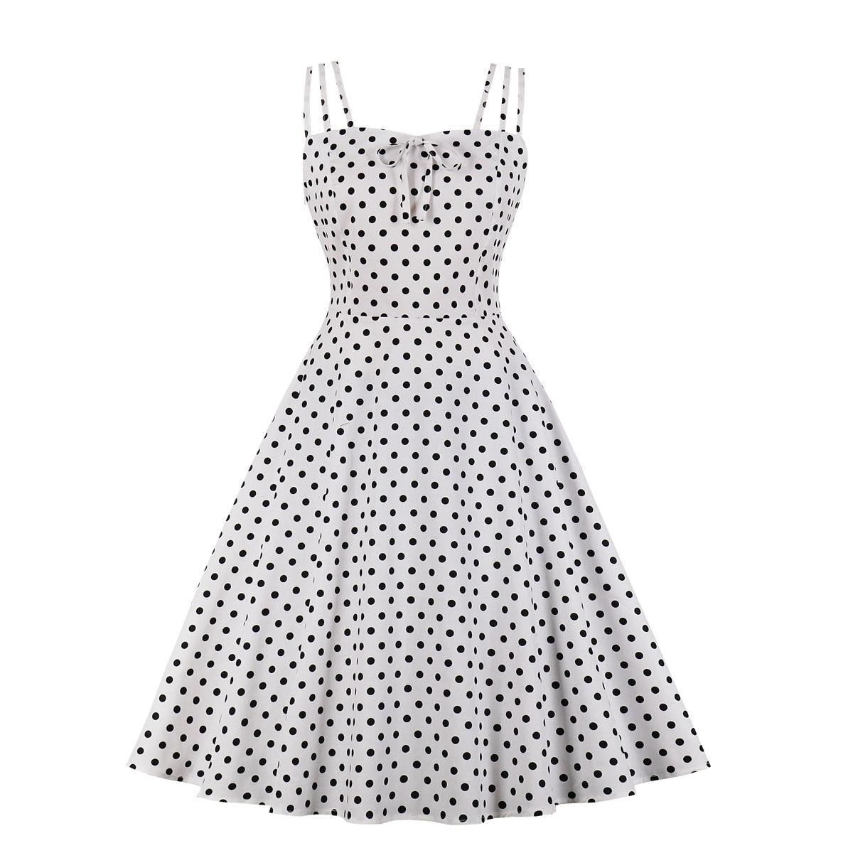 Vestido retro de los años 50 y 60 para mujer, sin mangas,...
