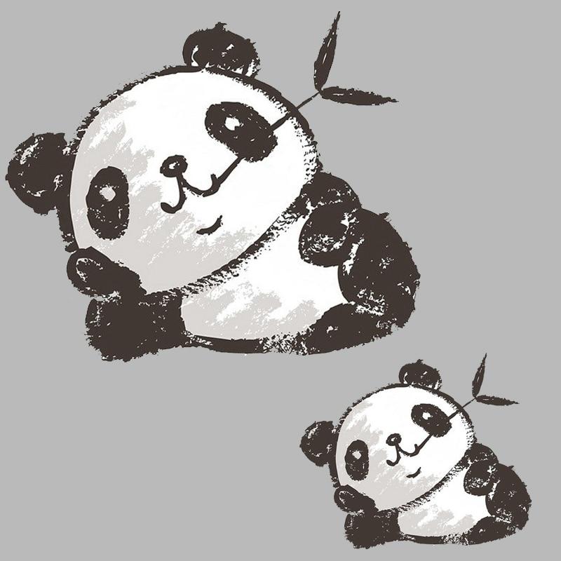 Leuke Panda Ijzer Op Transfers Patches Op Kleding Ijzer Op Vinyl Transfer Voor Kleding Stickers Badge Ijzer Op Applique Wasbare