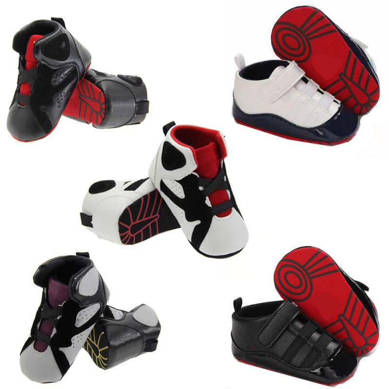 Baby Shoes Newborn Boys Girls Crib Shoes First Walkers Kids Toddlers Soft Sole Anti-slip Soles Casua