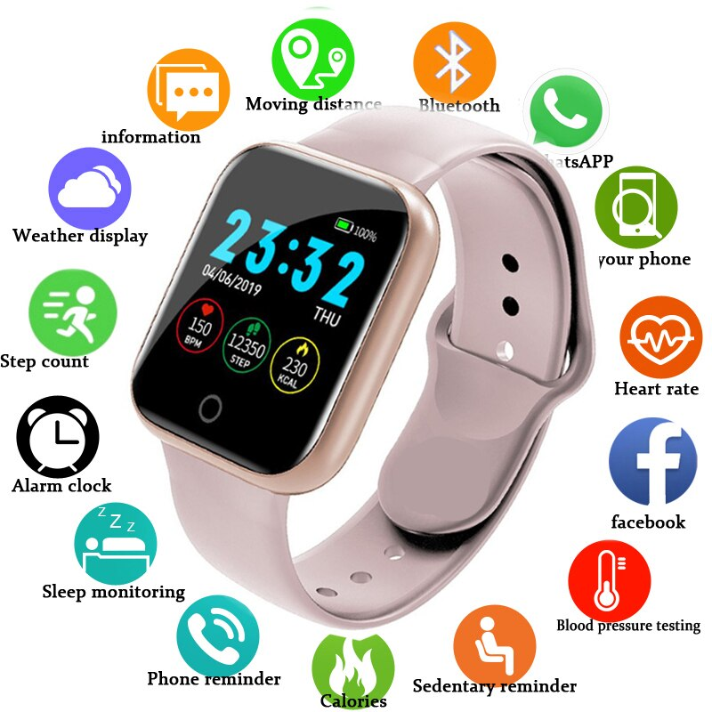 Electronic digital watches For Men Women Blood Pressure Heart Rate Waterproof Tracker Sport Clock Watch Smart For Android IOS sport outdoor smart watch men gps wearable devices activity tracker bracelet waterproof smart watches for man functional clock