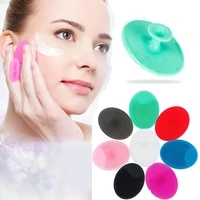 6 551 5cm silica gel cleaning pad face cleansing brush blackhead remove scrub exfoliating massage skin care beauty tool