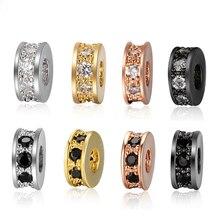 4 sztuk 7.5mm Rhinestone Rondelles koralik z kryształkami koraliki dystansowe luzem paciorki przegrody dla ręcznie robiona biżuteria DIY ustalenia akcesoria do rękodzieła
