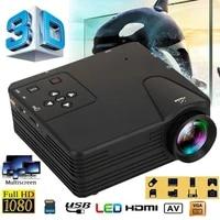 MINI projecteur rechargeable WIFI Portable projecteur LED video 3D Full Hd projecteur pour 1080P Smart Mobile Home cinema cinema New2020