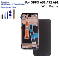 for oppo a72 a92 a52 2020 with frame original lcd display touch screen digitizer assembly phone cph2069 cph2067 parts repair