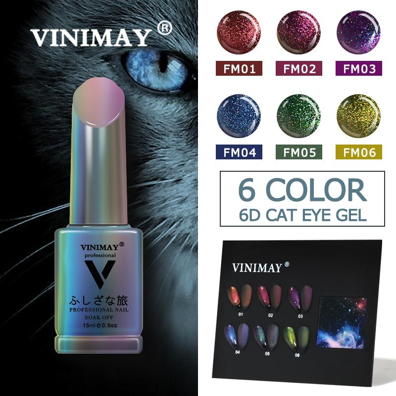 VINIMAY 6D esmalte en Gel estilo CAT EYE Gel esmalte de uñas barniz de uñas UV remoje Gellak Gelpolish arte de uñas Primer manicura Gel Lacque