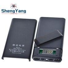 Портативный 5 в 6x18650 Внешний аккумулятор корпус Чехол DIY type-C Micro USB Быстрая зарядка для мобильного телефона чехол для зарядного устройства