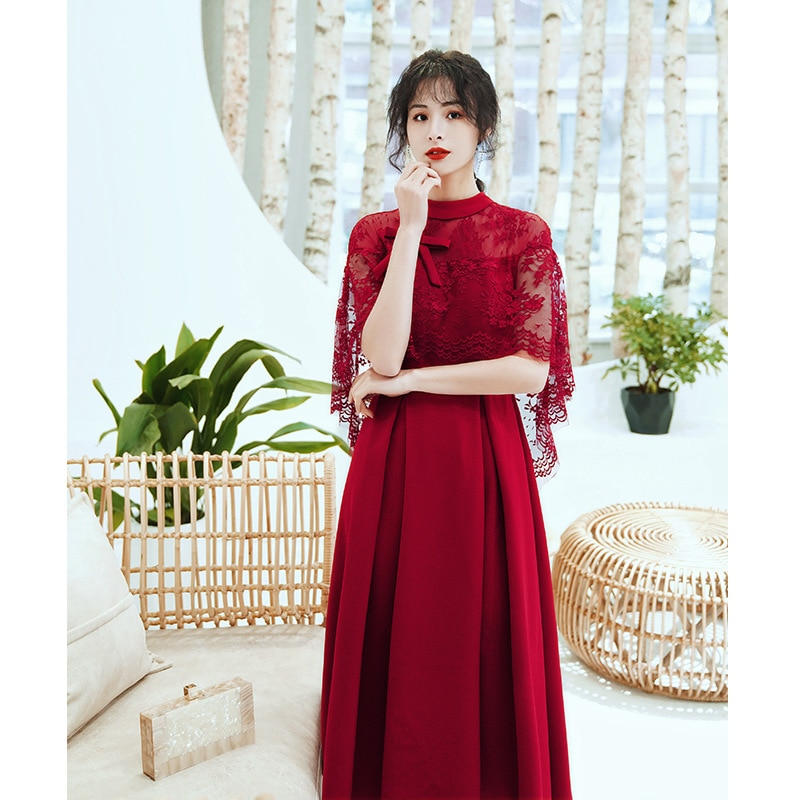 chinese Style Bride Maternity Photography Props Lace Bow Design Pregnancy Clothes Maternity Formal Dresses For Pregnant ZL643 enlarge