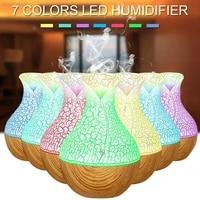 Diffuseur dhuile essentielle daromatherapie pour maison et bureau  130ML  humidificateur a brouillard froid  purificateur dair a 7 couleurs changeantes avec veilleuse LED