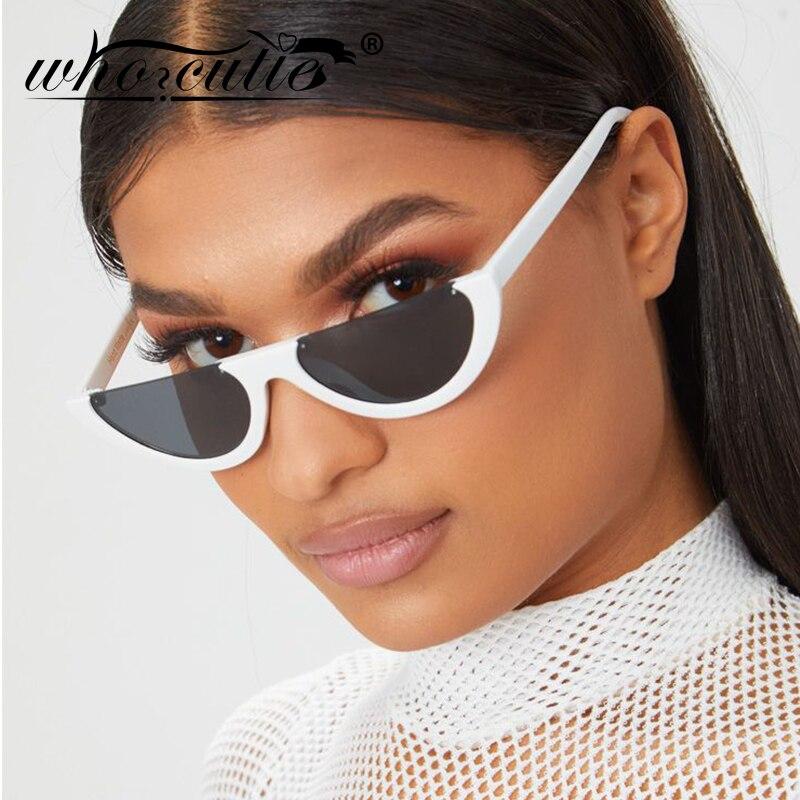Солнцезащитные очки Half Moon Slim Sunnies, женские винтажные очки в ретро-стиле с розовыми линзами и оправой кошачий глаз, 2019