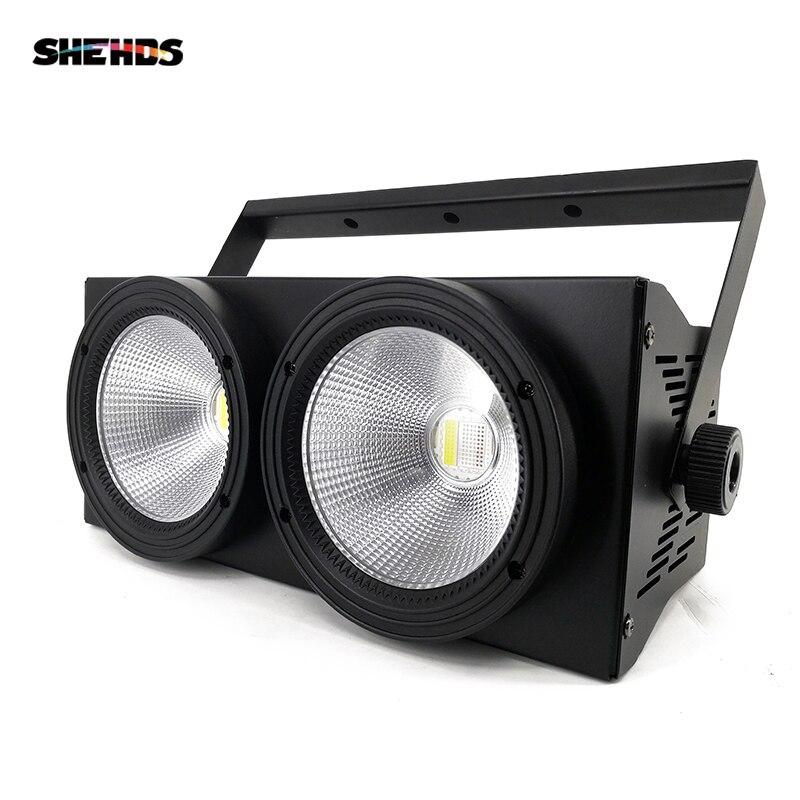 SHEHDS 2 عيون 200w COB LED بليندر ضوء DMX المرحلة الإضاءة تأثير بارد و دافئ أبيض اللون ل تلفزيوني حزب المشاهد مقاعد