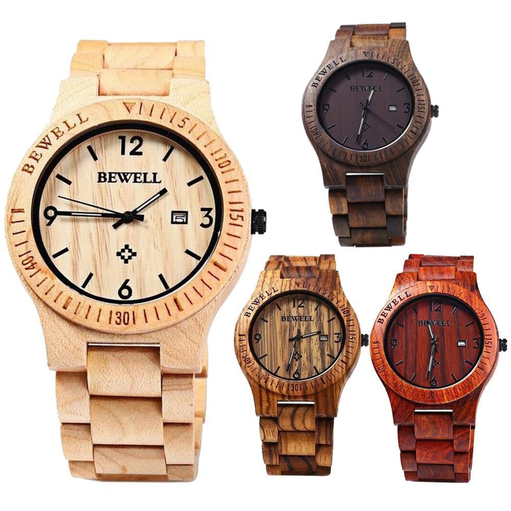 Men Luxury Watch Natural Maple Wooden Handmade Quartz Movement Casual Wrist Watch montre homme ча�