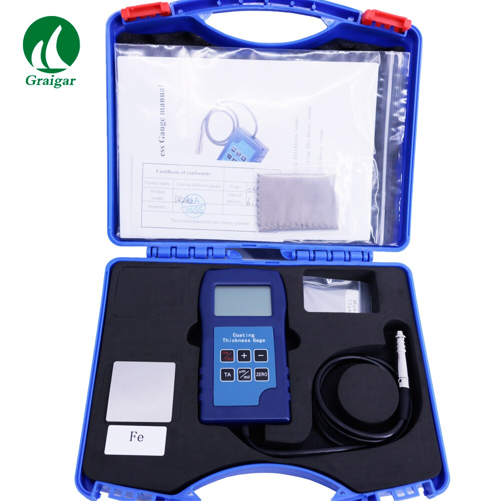DR260 Coating Thickness Gauge Non Magnetic Coatings Thickness Meter 0-1250um