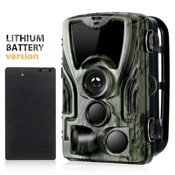 Câmera para trilha, rifle de caça, animais selvagens, fotos térmicas, à prova d'água com bateria de lítio de 5000mah