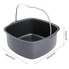 Friteuse à Air antiadhésive gâteau baril cuisson poêle four friture panier à rôtir pour philips HD9220 HD9225 HD9232 HD9233 HD9641 L4MB