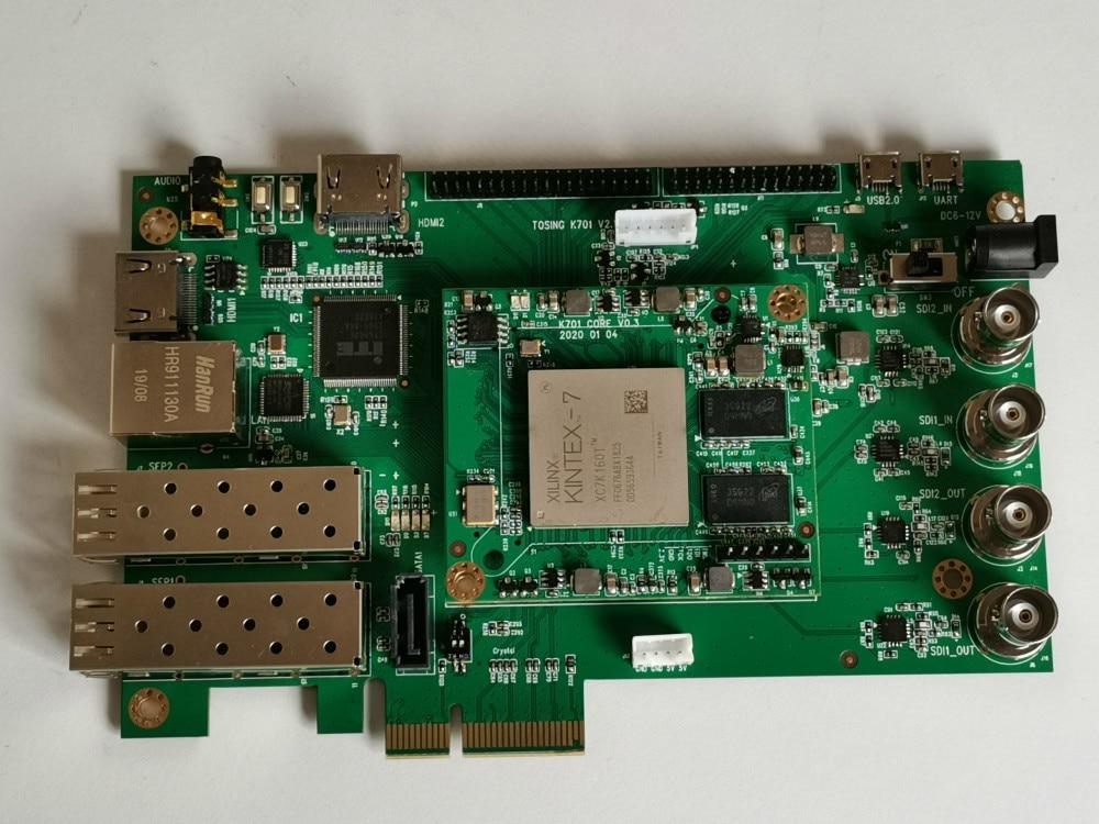 For XILINX K7 FPGA Development Board 3G 6G SDi PCIe SFP Optical Fiber LVDS for HDMI Video Board