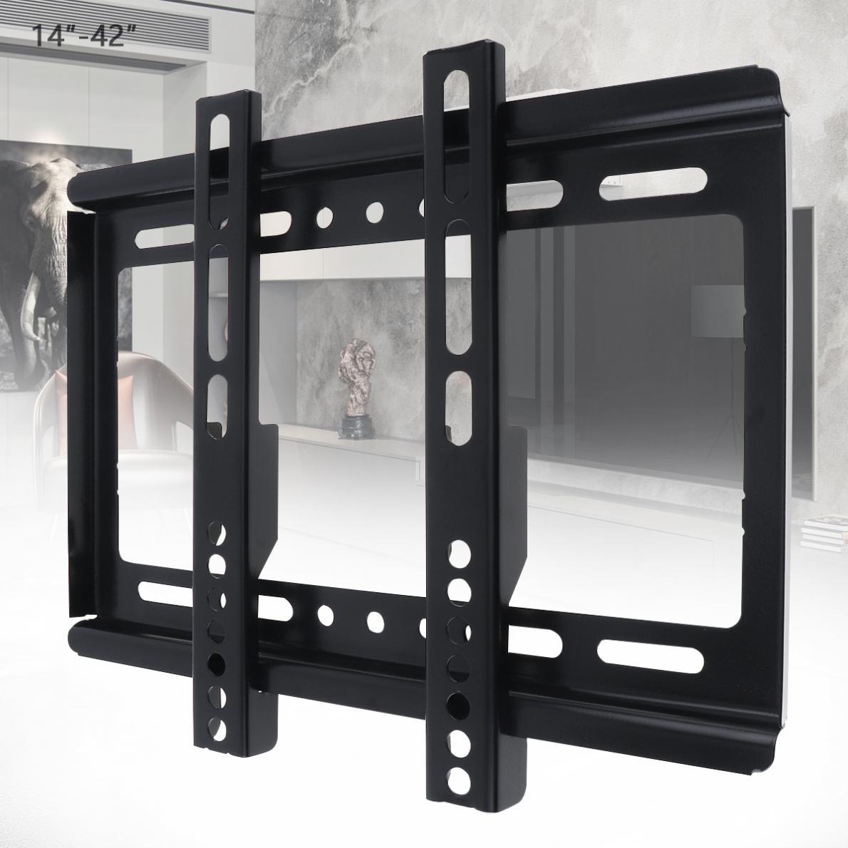 Soporte de montaje en pared Universal para TV, marco de TV de 25KG con gradiente para Monitor LCD LED de 14 - 42 pulgadas, Panel plano