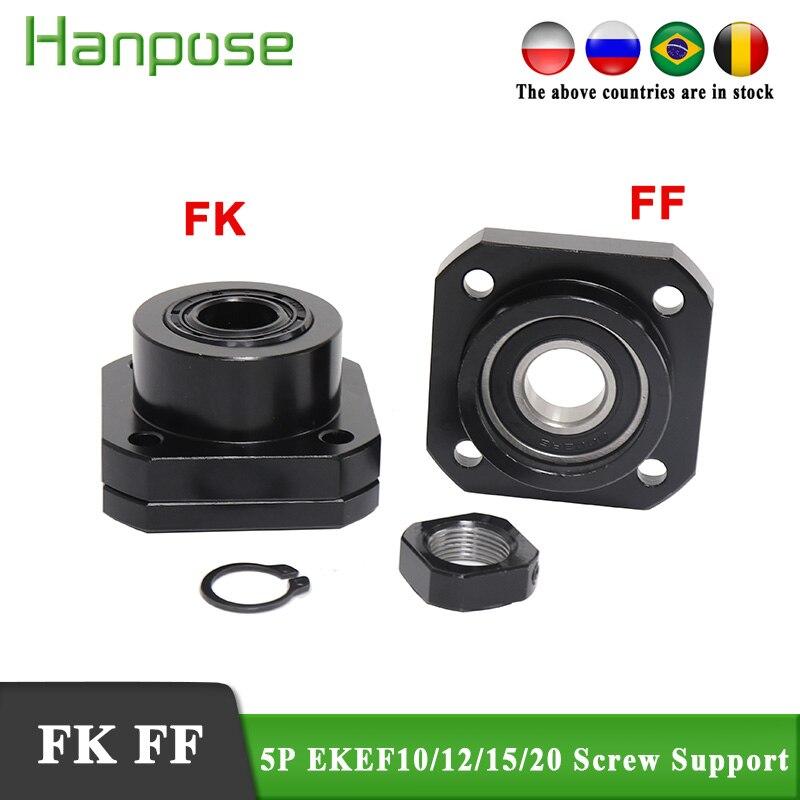 5 قطعة المسمار دعم sfu2005 نهاية دعم ل نك أجزاء FK12 FF12 FK1FF15 FKFF20 SFU1204 الكرة المسمار المحرك دليل خطي الملحقات