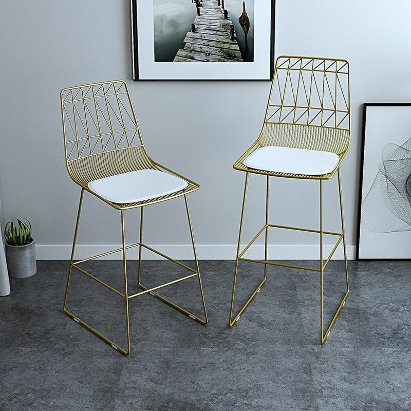 Фото - Скандинавский барный стул, комбинированный стол для отдыха, стул, железный стул, золотой высокий стул, кофейный стул, парикмахерский стул, о... [магазин сша] кованый железный стеклянный высокий барный стол патио барный стол черный