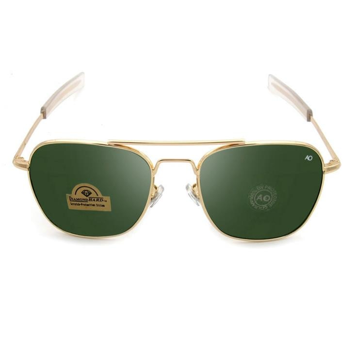 Aviation Sunglasses Men 2021 American Army Military Optical Sun Glasses ao 8052 polit driving glasse