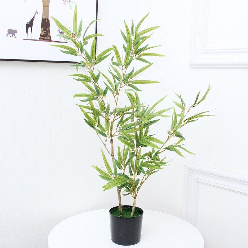 120cm 80cm grandes plantas artificiais verde árvore de bambu em vaso interno falso palmeira bonsai arte paisagismo hotel escritório decoração de casa