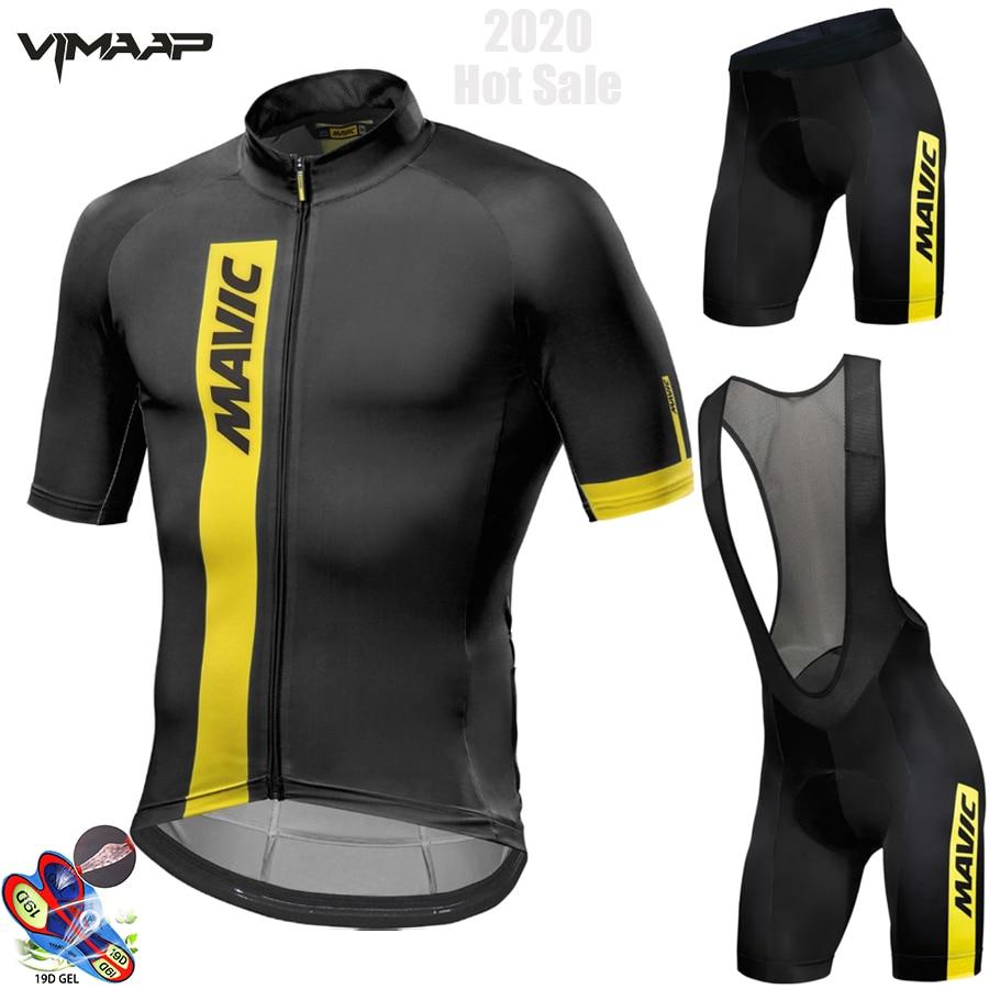 MAVIC-Conjunto de Maillot y pantalón corto para Ciclismo, Ropa de verano para...