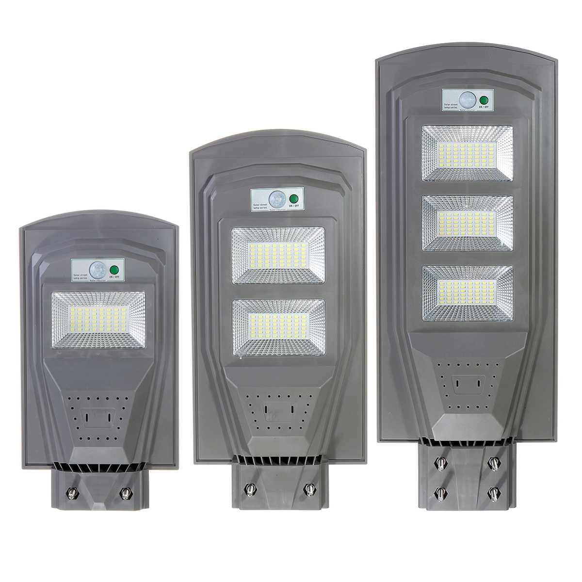 30W 60W 90W Solar Street Light Outdoor Lighting LED Solar Powered Lamp Grey Light Control+Human Body Induction