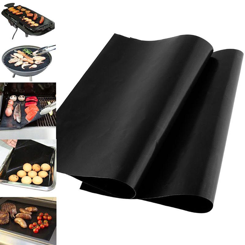 33x40cm reutilizable antiadherente BBQ Grill Mat 0,08mm grueso PTFE barbacoa revestimientos para hornear teflón cocina almohadilla microondas horno herramienta