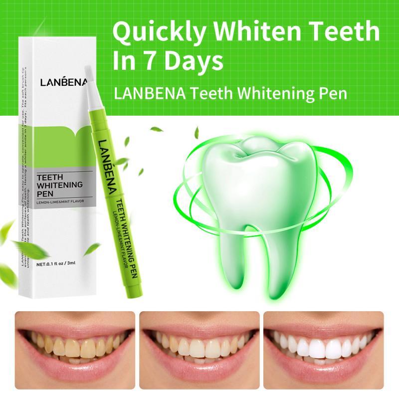 LANBENA Lima menta cepillo de dientes limpio manchas de dientes pluma blanqueadora de dientes 3ml TSLM1