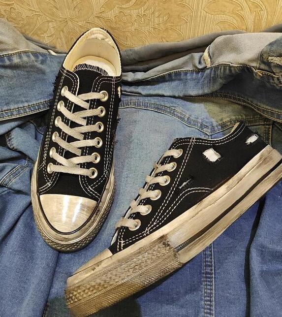 اليدوية القديمة مخصص تنفس مريحة عادية البرية الشارع الهيب هوب الهيب هوب حذاء قماش الرجال والنساء أحذية كبيرة الحجم